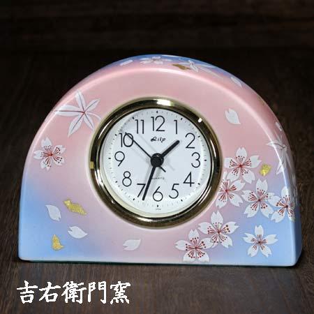 お気にいる クロック clock 卓上 乾電池 置時計 置き時計 かわいい おしゃれ 記念 結婚 定年 還暦 傘寿 S 九谷焼 正規激安 時計 花の舞 喜寿 退職 米寿 金婚