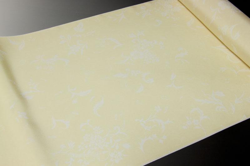 長襦袢 精華織 白抜き四季草花と楽器