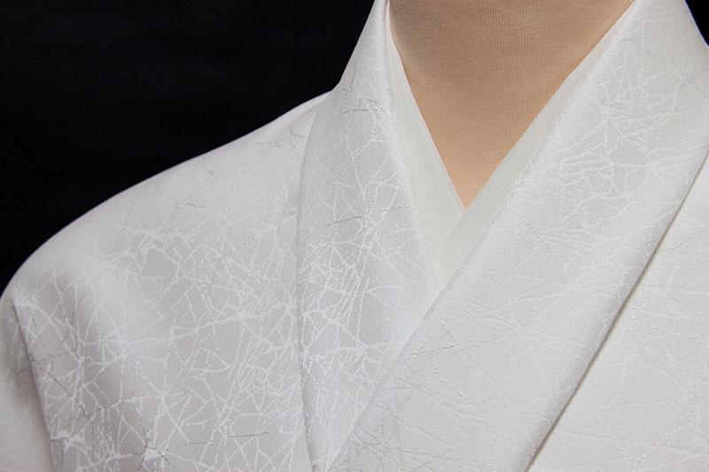 色無地 誂え 紋意匠 氷裂(ひょうれつ)文様 巾広