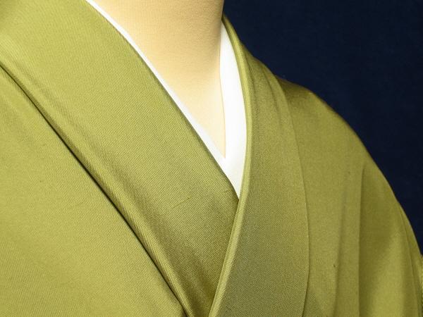 裄の長めの方の為の紬色無地 尺一寸広巾利休茶