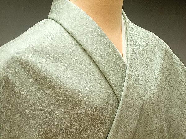 色無地 日本伝統御裂 正倉院華文 青磁鼠