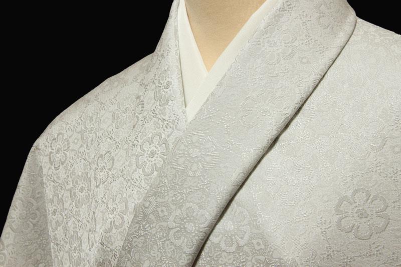色無地 日本伝統御裂正倉院花鳥錦文 白鼠