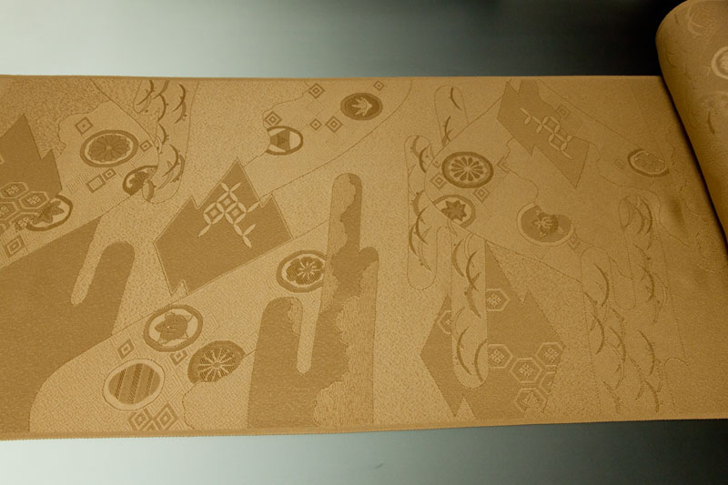 コート地 紋意匠 有職松皮菱文 キャメルdxoeWQCrB
