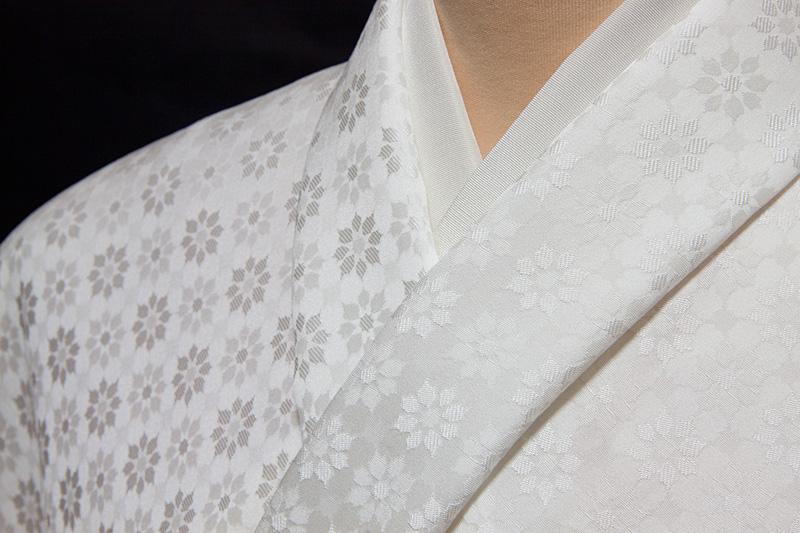 色無地 誂え 紋意匠 先練モザイク文