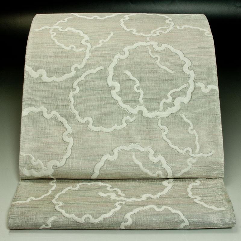 西陣吉村織物 袋帯 雪輪文