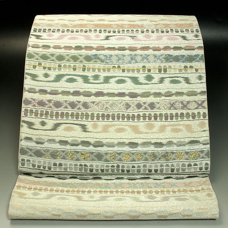 竹内織物 袋帯 幾何学文