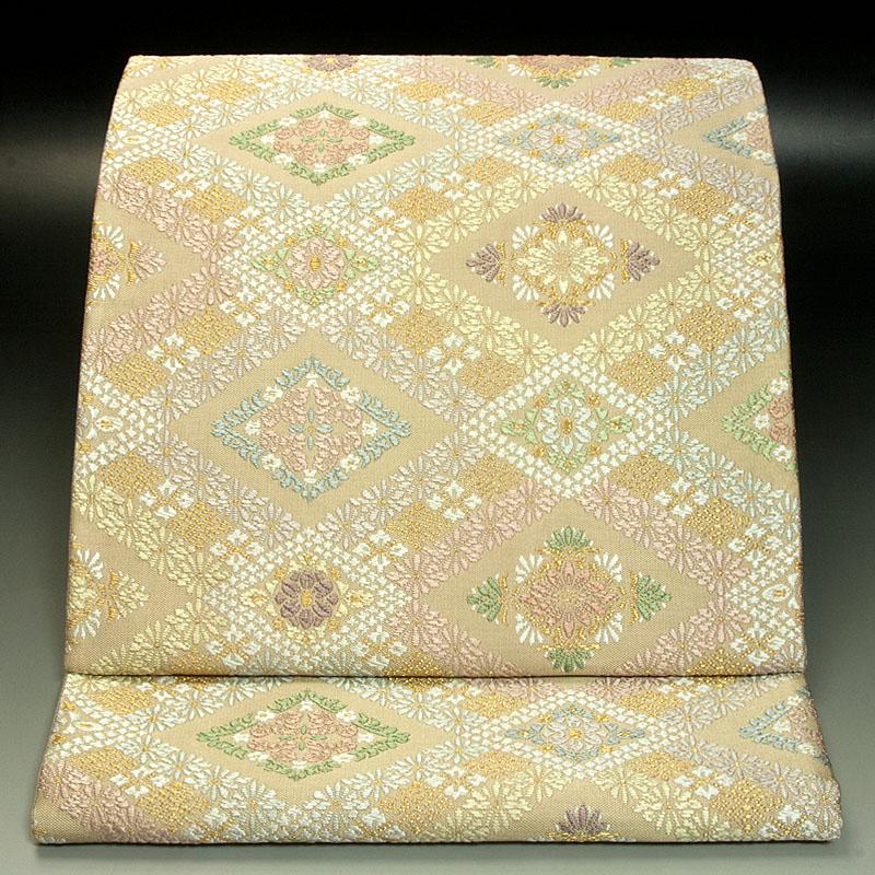 西陣橋本テル織物 袋帯 有職菱文