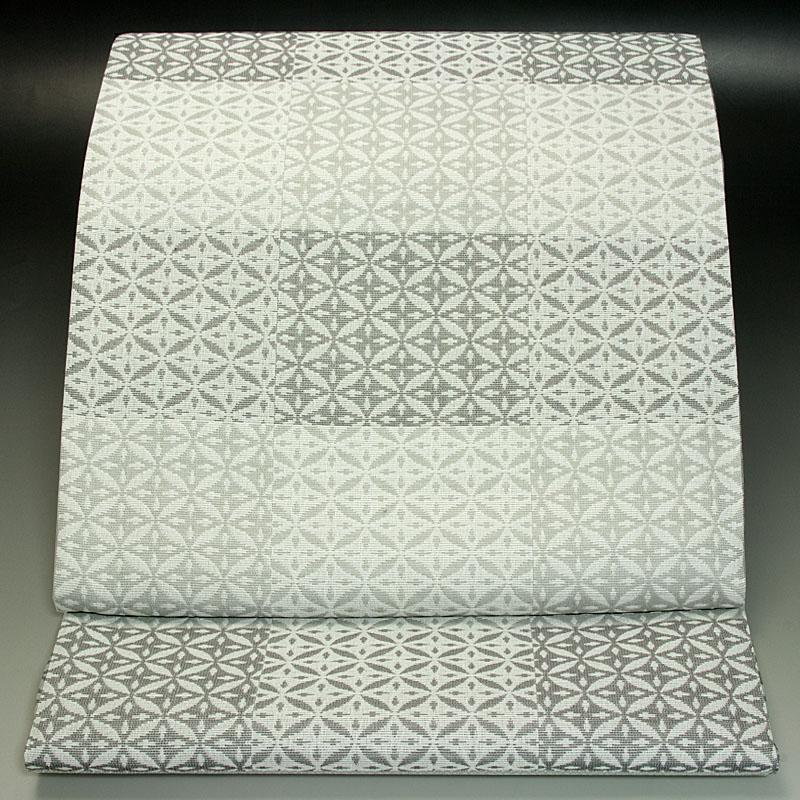 西陣加島織物 袋帯 市松七宝文