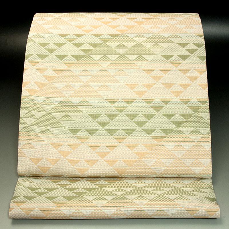 西陣加島織物 袋帯 幾何学文様