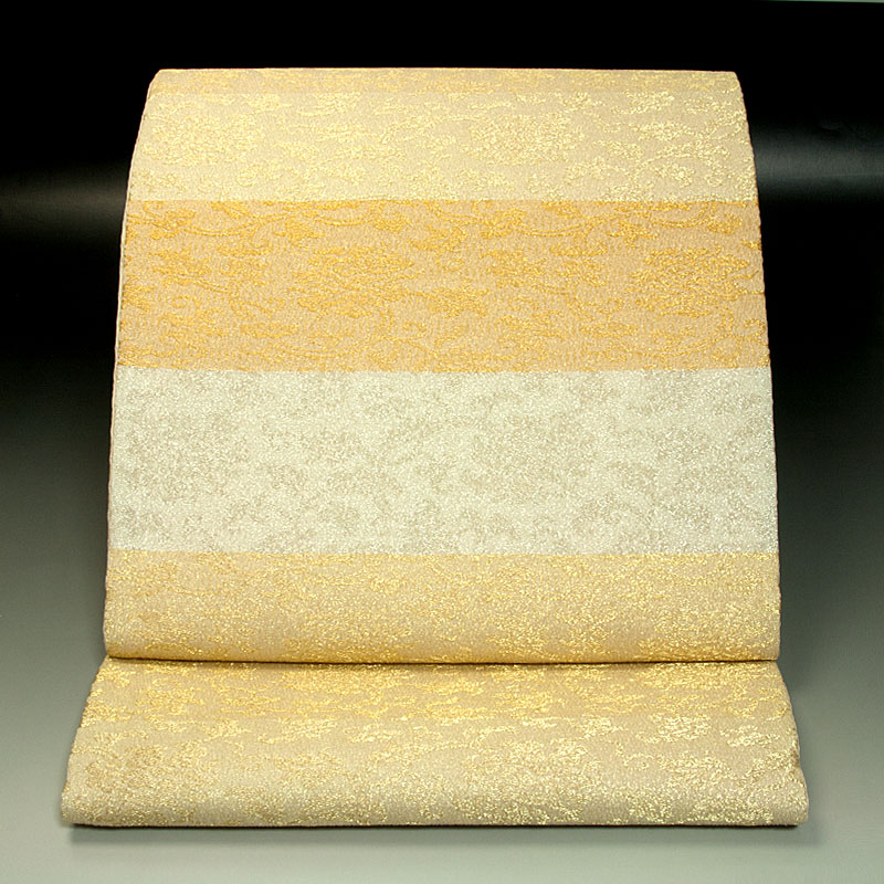 山口美術織物 袋帯 牡丹唐草文