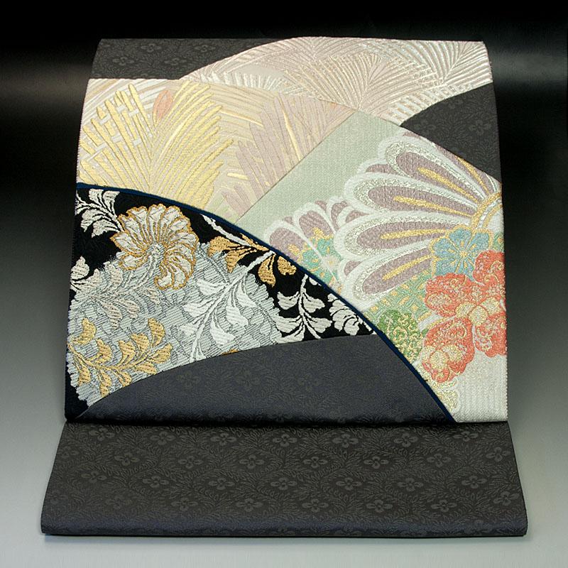 西陣いづくら 袋帯 名物裂切嵌(きりばめ)