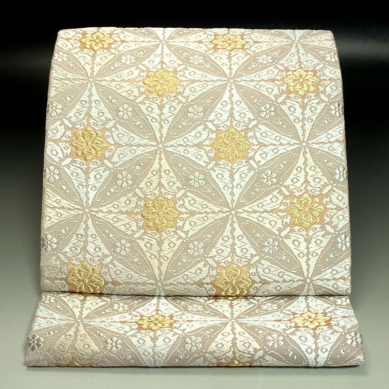 西陣河合美術織物 袋帯 七宝蝶華文
