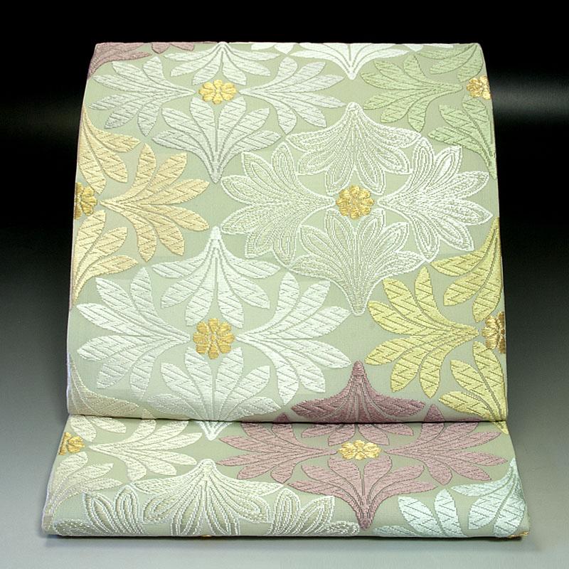 西陣河合美術織物 袋帯 四つ葉文