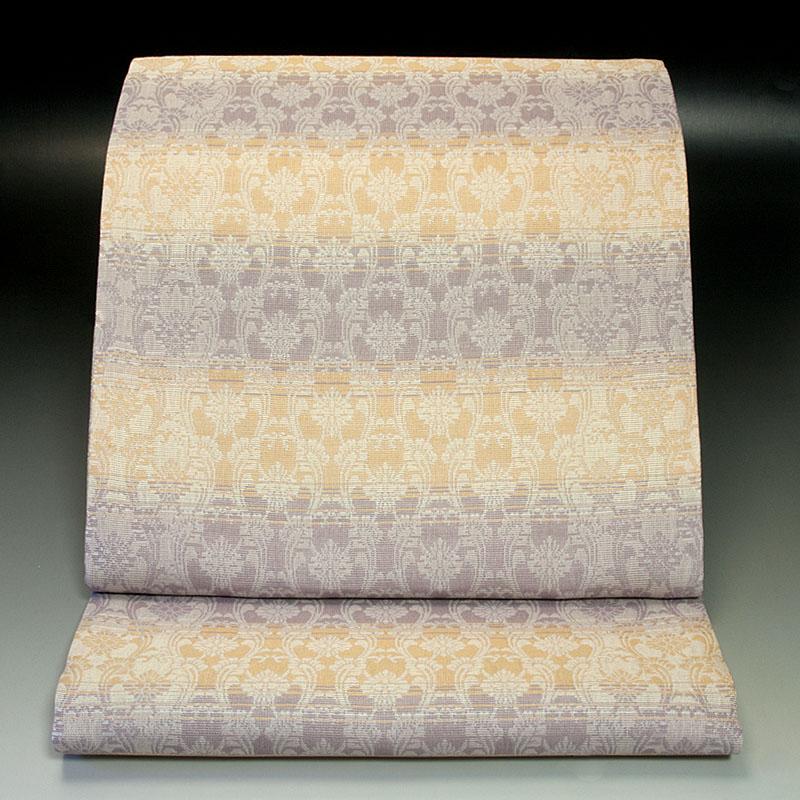 西陣加島織物 袋帯 轡唐草文