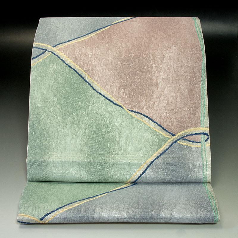 西陣芳彩織 袋帯 幾何学文