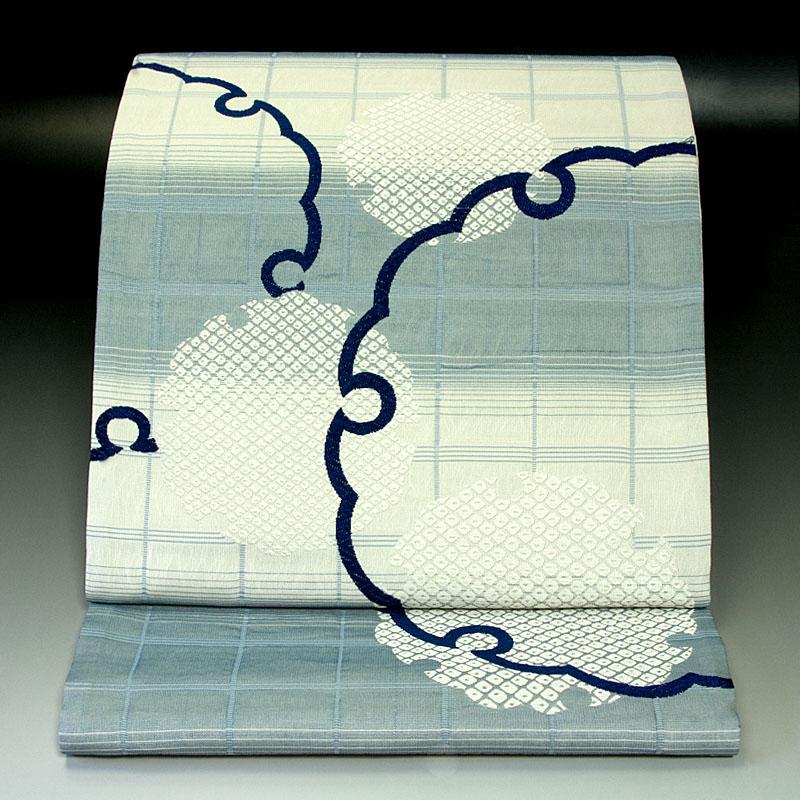 西陣佐々木染織 袋帯 格子雪輪文