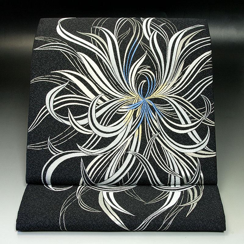 西陣となみ織物 袋帯 金銀花