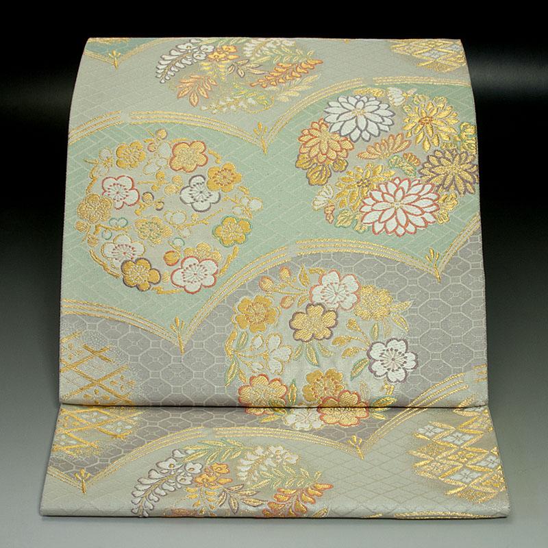 西陣小森織物 袋帯 花の丸文
