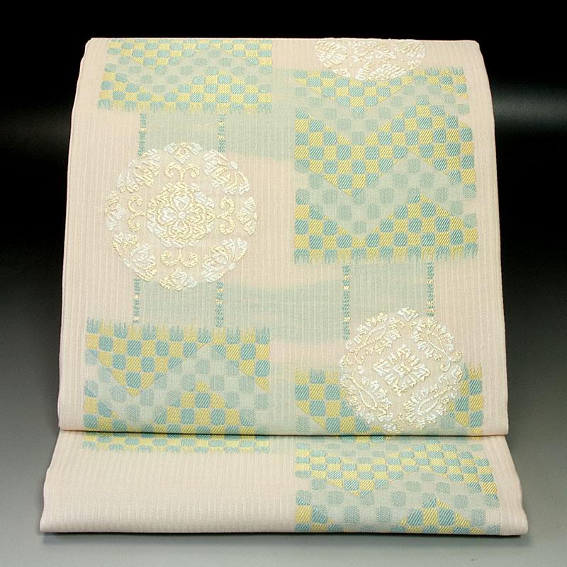 西陣弥栄織物 袋帯 浮線綾文