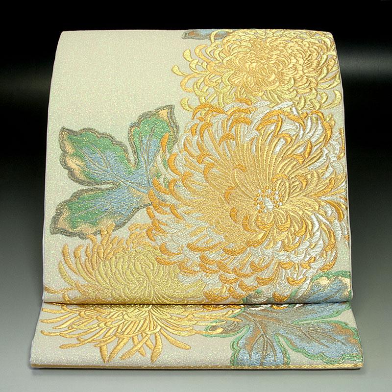 西陣加島織物 袋帯 乱菊文