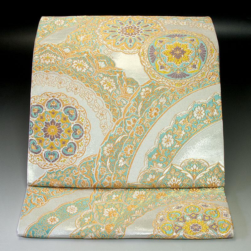 西陣河合美術織物 袋帯 正倉院華文