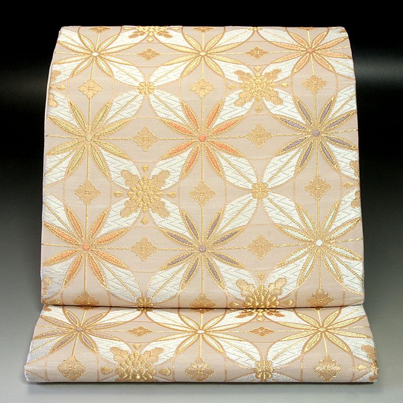 西陣河合美術織物 袋帯 七宝文