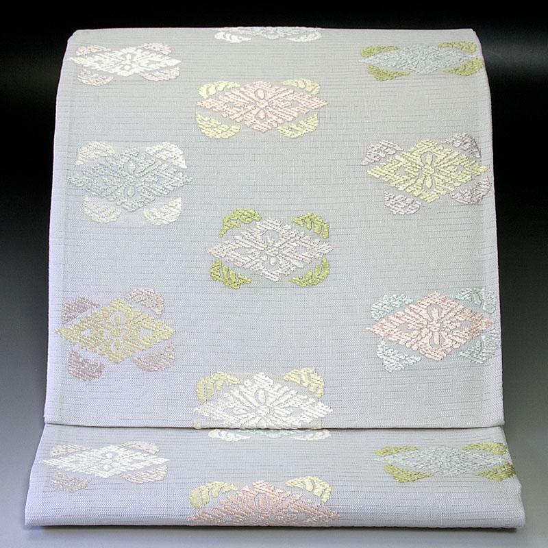 西陣橋本テル織物 夏袋帯 有職菱文