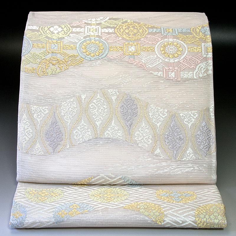 西陣洛陽織物 夏袋帯 有職華文