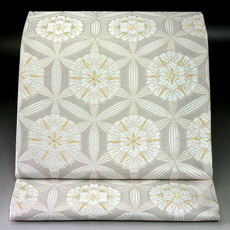 西陣河合美術織物 袋帯 六宝花丸文