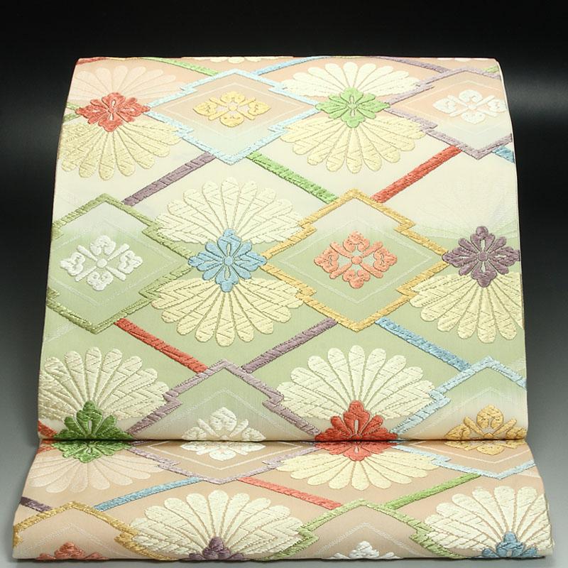 西陣藤原袋帯 重ね松皮菊