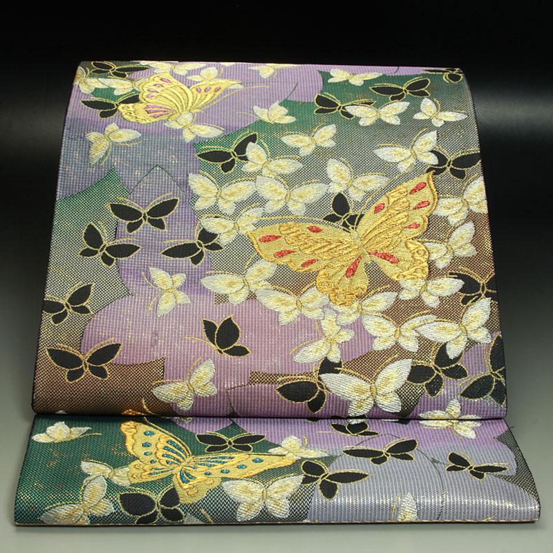 西陣じゅらく工芸織袋帯 蝶