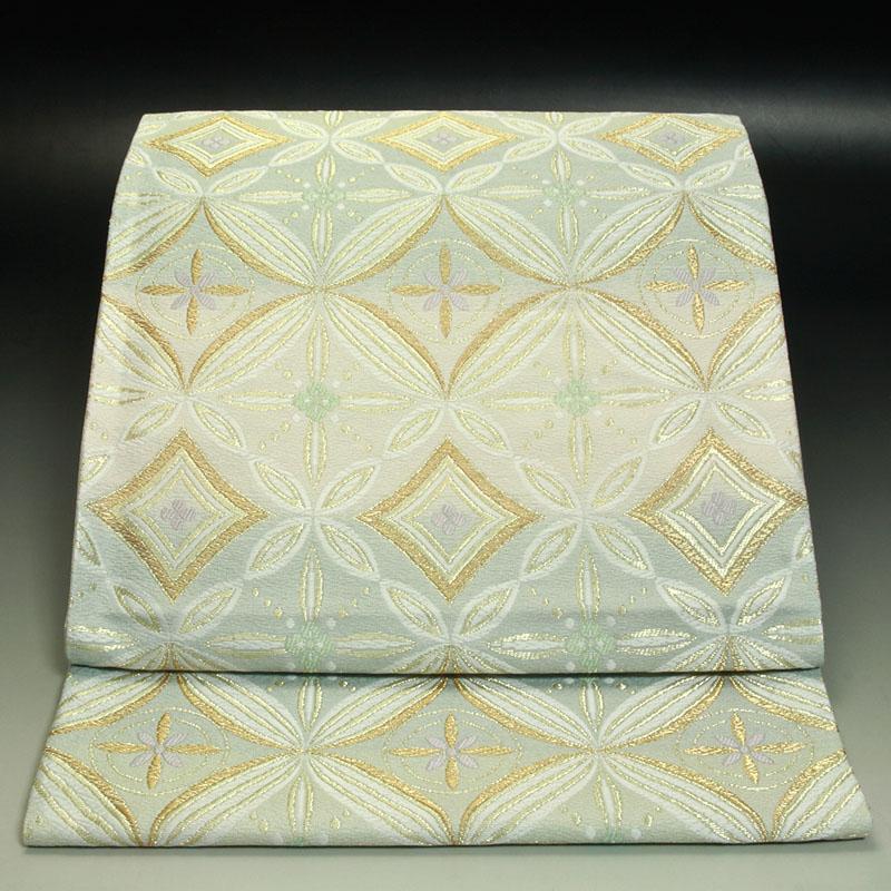 西陣亀井織物袋帯 変わり七宝文