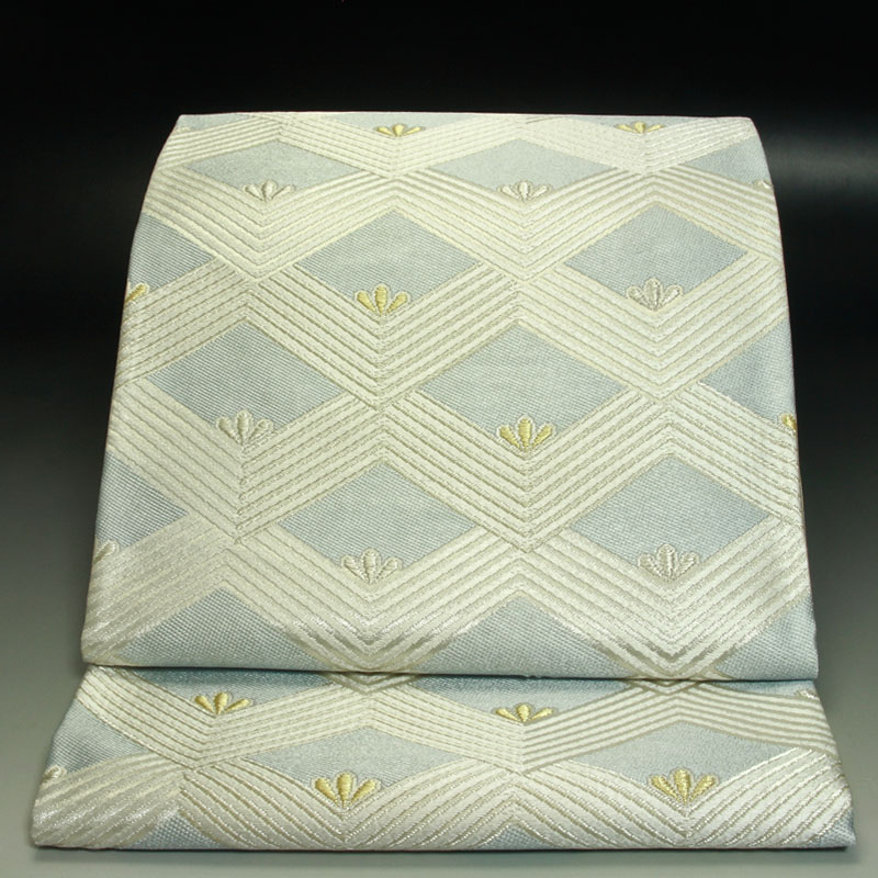 西陣河合美術織物袋帯  能宝菱波文