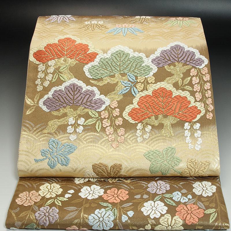 西陣高島織物袋帯 青海松桜