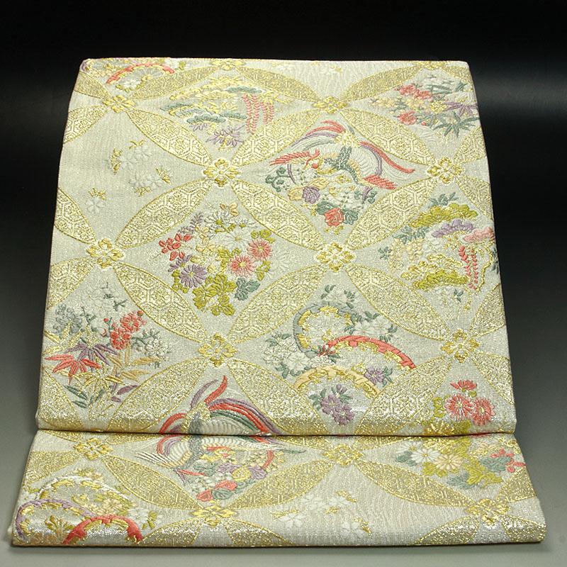 西陣田中義織物 袋帯 七宝吉祥文