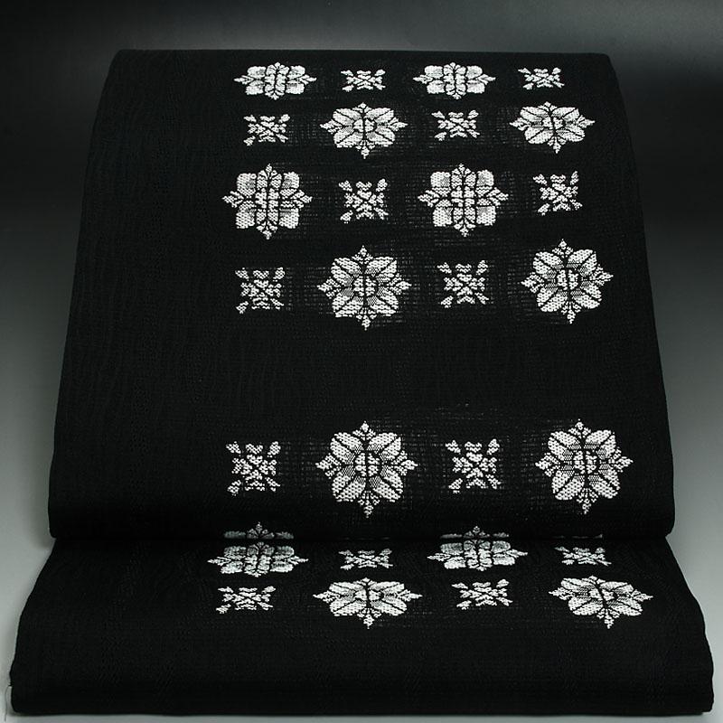 西陣橋本テル織物 夏袋帯 風通よろけ絣