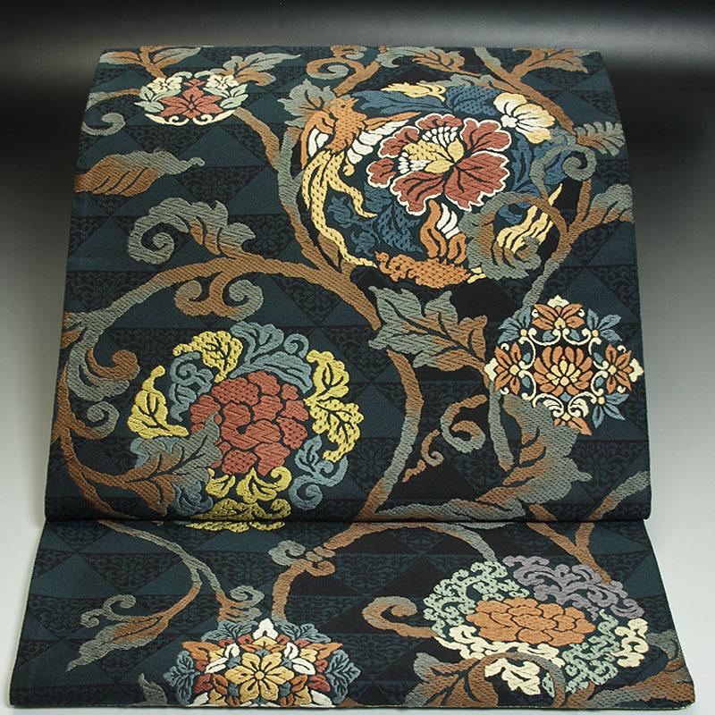 西陣とみや織物袋帯 牡丹唐草文