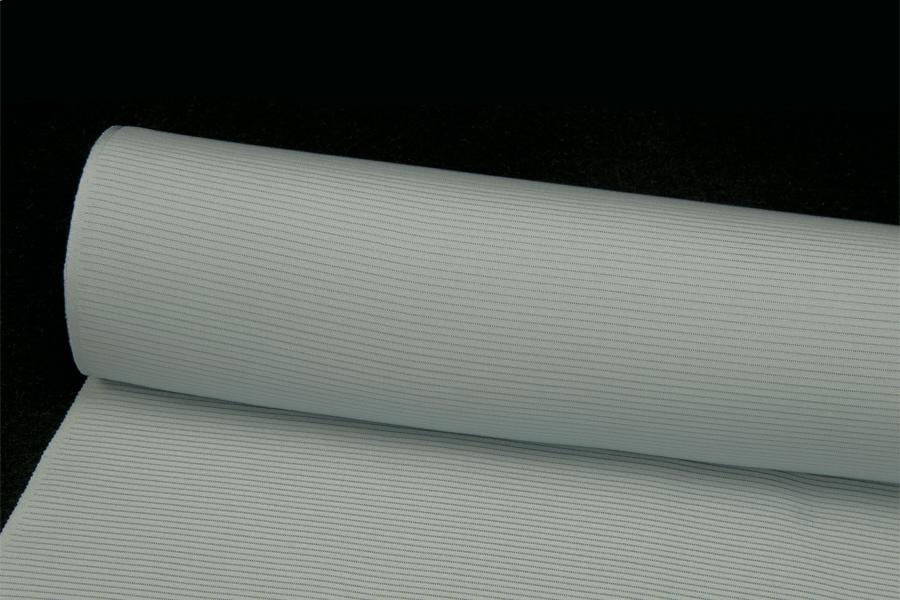 色無地夏用 皇室献上絹 五本駒絽 重目 青みの白ねずみ