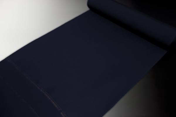色無地夏用 皇室献上絹 五本駒絽 重目 濃紺色