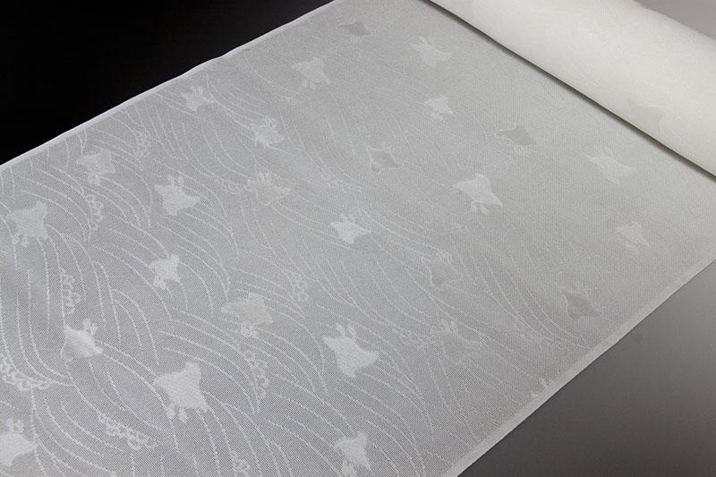 正絹長襦袢 丹後産 紋紗織 波に千鳥