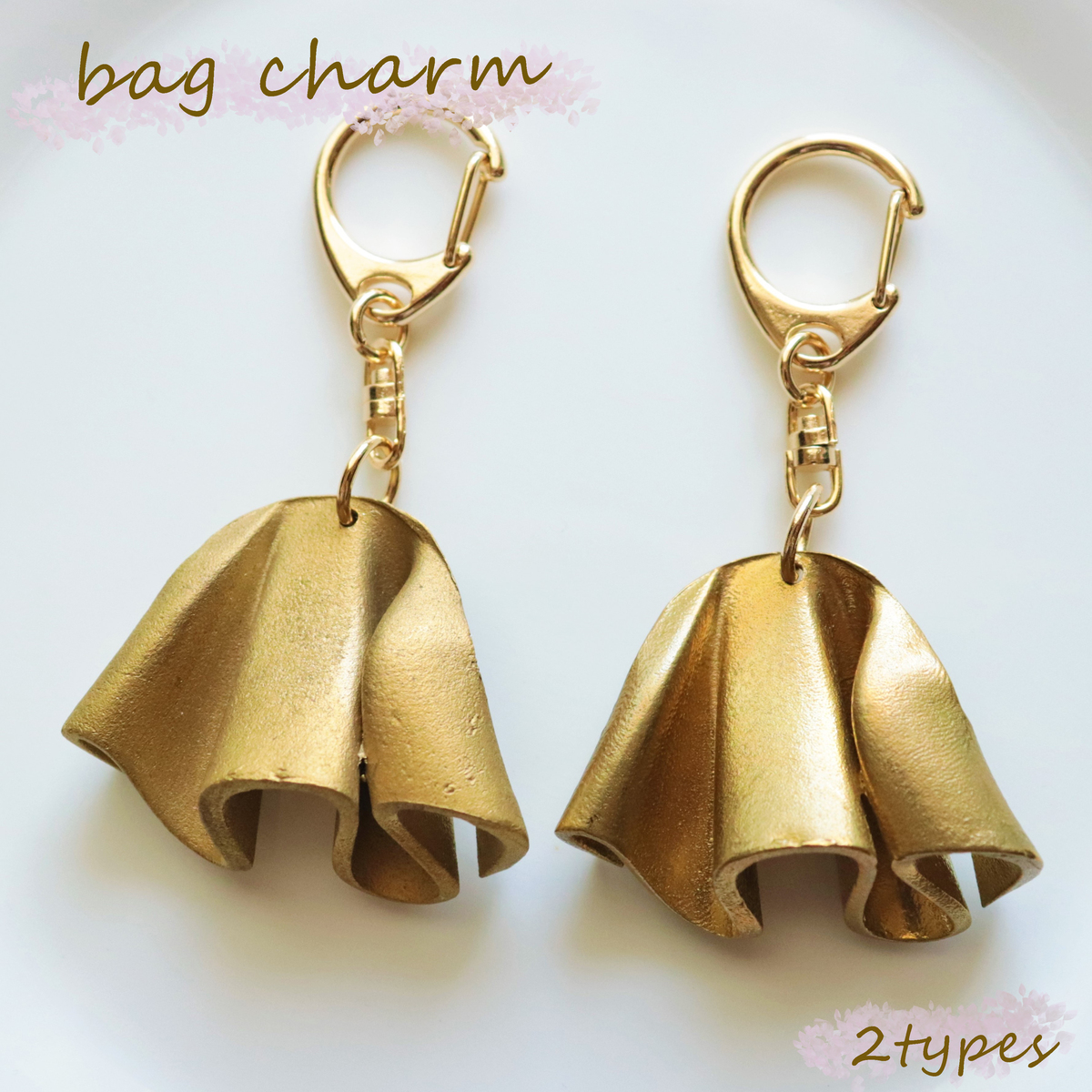 ひらひらと舞う布がモチーフの金属チャーム バックチャーム バッグチャーム アクセサリー キーホルダー キーリング ひらひら メーカー再生品 かわいい 格安激安 おしゃれ 大人 ひらみチャーム 真鍮