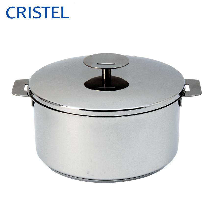 CRISTEL クリステル グラフィットシリーズ 両手鍋深型 22cm