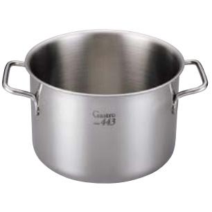 ステンレス業務用鍋 Gastoro443 ガストロ半寸胴鍋(蓋なし) 36cm 半寸胴