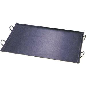 鉄 極厚プレス式 バーベキュー鉄板 【 大 】  (グリル・プレート)