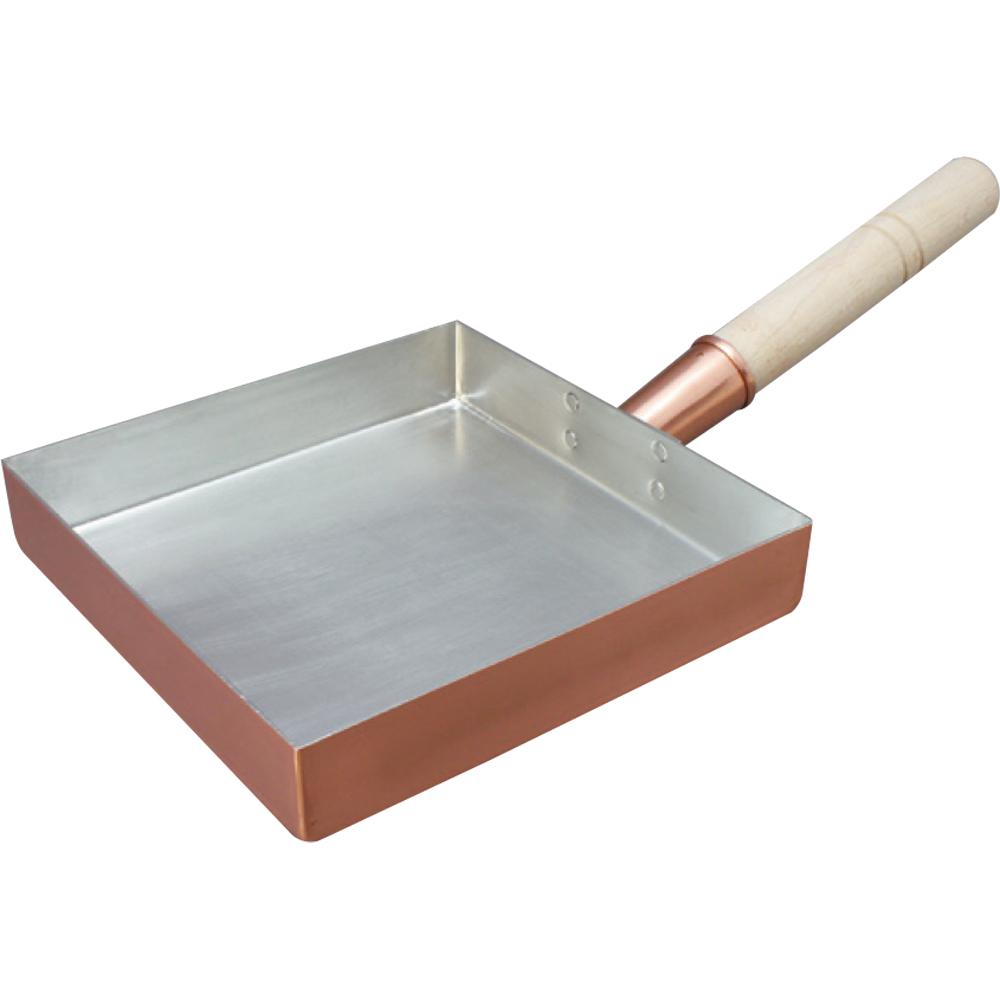 銅玉子焼 関東型(正方形) 24cm