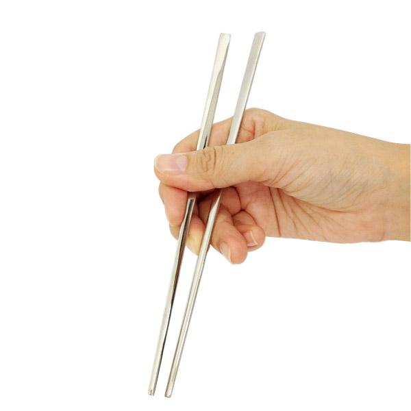 日本韩国筷子和筷子韩国 toccara 不锈钢筷子 (平原 / 平)