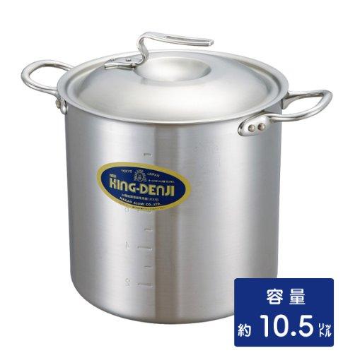 ニューキングデンジ 寸胴鍋 24cm 10.5リットル  業務用ステンレス鍋 メジャー付