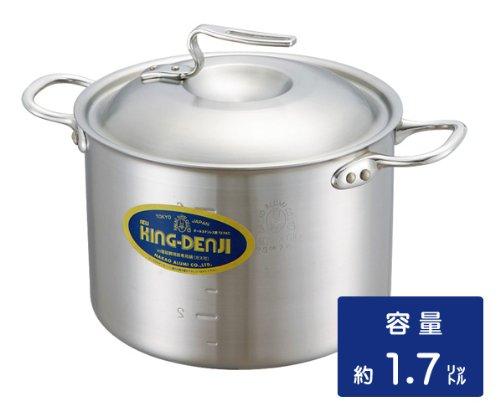 ニューキングデンジ 半寸胴鍋 15cm 1.7リットル  業務用ステンレス鍋 メジャー付