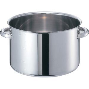 [IH対応]モリブデンジ II 半寸胴鍋 フタ無(目盛付)48cm(63L) EBM8693900