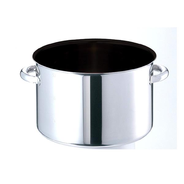モリブデンジIIPLUS ノンスティック加工半寸胴鍋 蓋無(目盛付)39cm(30L) EBM 8689610